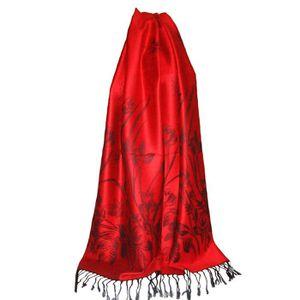 Etole fine chale femme pashmina   soie rouge - Achat   Vente echarpe ... d2ae021a9e6