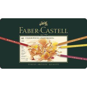 CRAYON DE COULEUR FABER-CASTELL Boîte de 60 Crayons de couleur Polyc