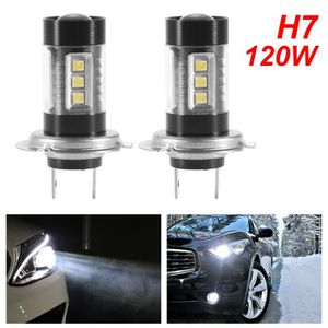 PHARES - OPTIQUES 1 paire 16LED H7 ampoules d'antibrouillard voiture