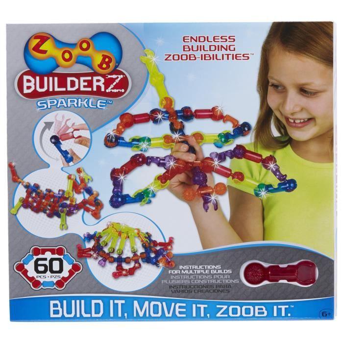 ALEX Kit de 60 pièces Etincelantes  BuilderZ - 2 guides d'instructions - A partir de 6 ans