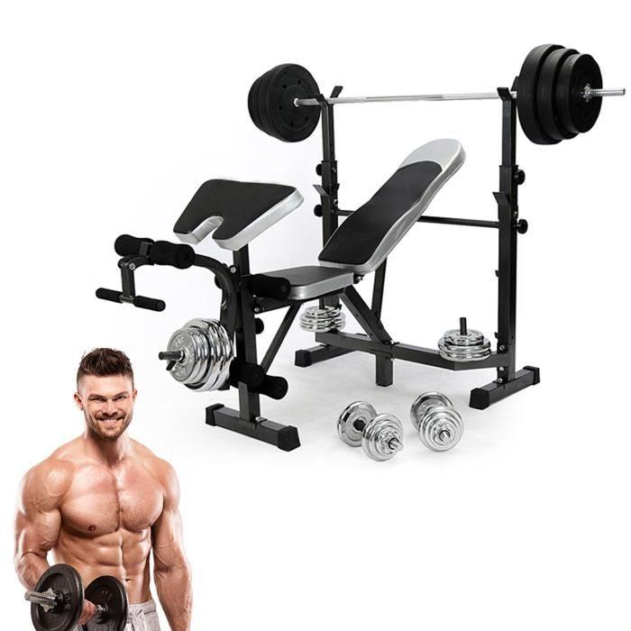 BANC DE MUSCULATION Banc de Musculation Multifoncion Réglable Pliable