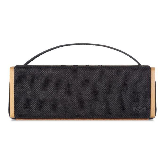 House Of Marley Riddim Bt Haut-parleur Pour Utilisation Mobile Sans Fil Bluetooth Noir Signature