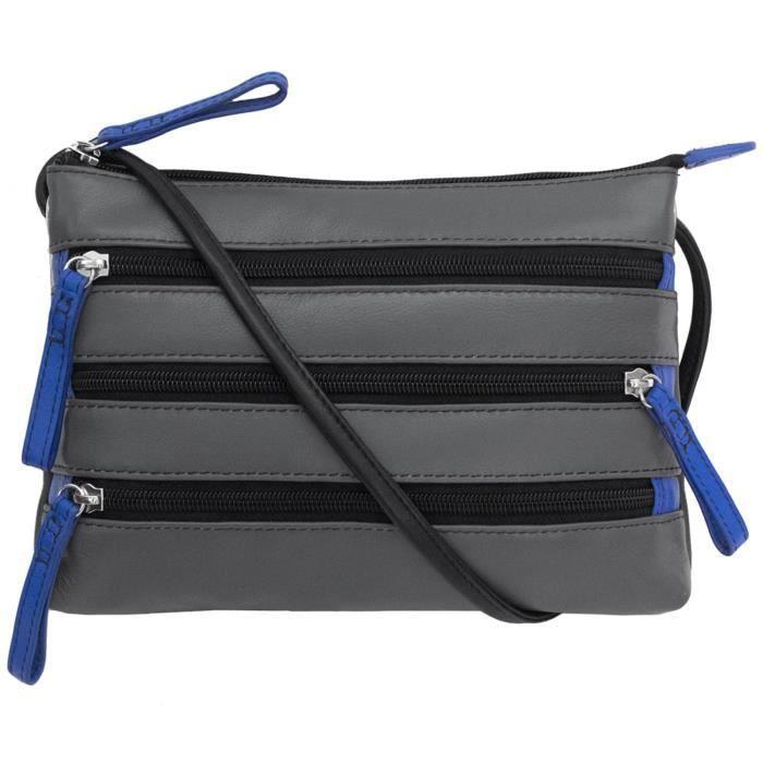 Croix-corps sac à main en cuir Zipper HZE06