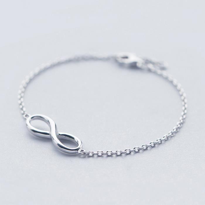 Infini Bracelet Noeud 925 Sterling Argent Femmes Bracelet Chaîne Réglable  taille Bracelet D amitié Bracelets Pour Les Femmes Bracele 656e07cf9907