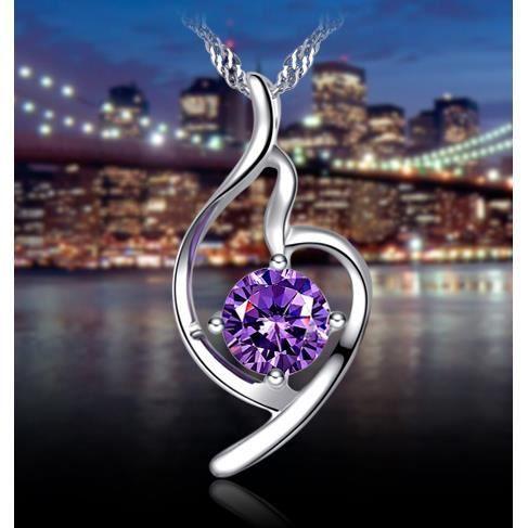 925 collier pendentif argent pendentif femmes cadeaux Saint Valentin Cadeaux de Noël