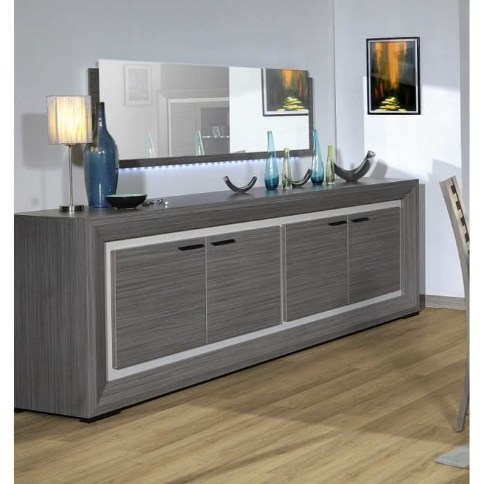 lynea bahut bois gris et laque l248 cm achat vente buffet bahut lynea bahut l248 cm. Black Bedroom Furniture Sets. Home Design Ideas