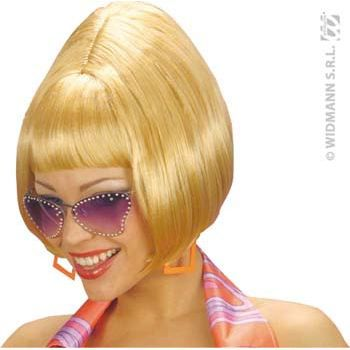 Perruque disco années 70 blonde femme anné