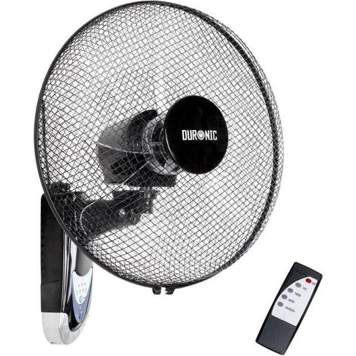 duronic fn55 ventilateur mural oscillant 60w de 40 cm avec. Black Bedroom Furniture Sets. Home Design Ideas