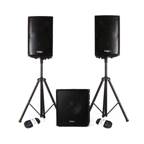 Ibiza Sound Cube1812 Syst 232 Me Actif 2 1 Complet 1200w Plug