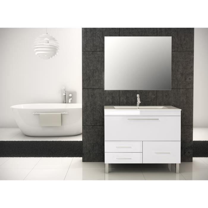 Londres meuble de salle de bain blanc 100 cm achat vente salle de bain complete londres - Meuble de salle de bain en 100 cm ...