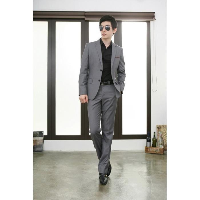 costume gris clair homme achat vente costume gris clair homme pas cher soldes d s le 10. Black Bedroom Furniture Sets. Home Design Ideas