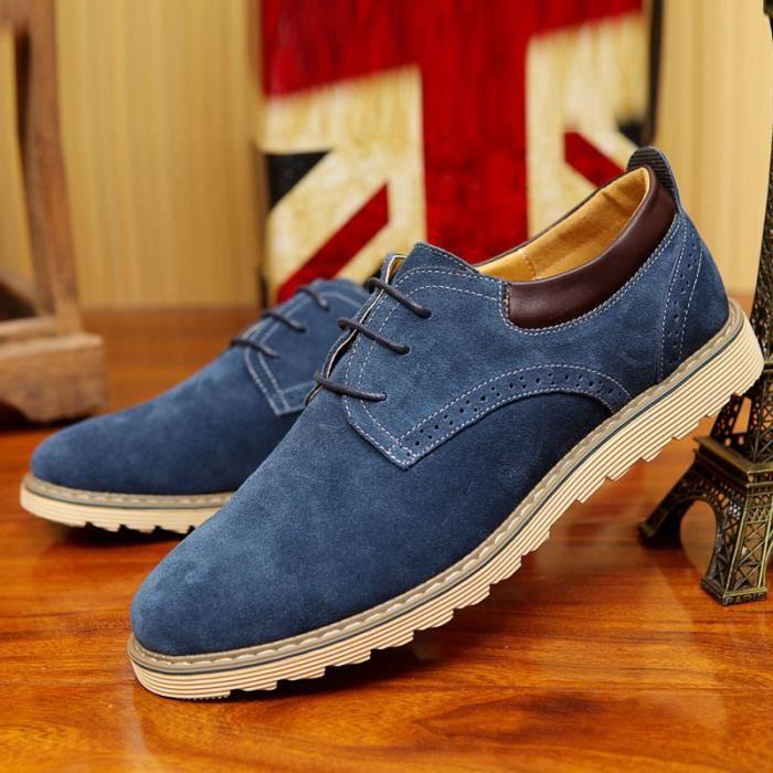 Cuir Chaussures Daim Noir Bleu Chaussur Casual Hommes En Achat n8yvwmN0O
