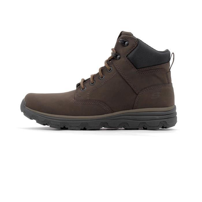 Vente Achat Chaussures Format Montantes Marron Skechers