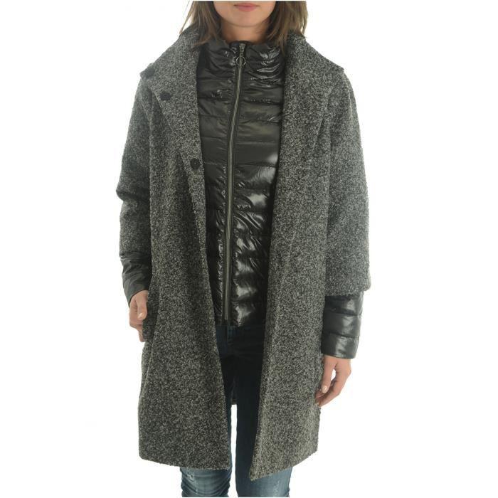 9b105d411f07d Manteau 3 4 Avec Blouson Intégré Double - Vero Moda Gris Medium grey ...