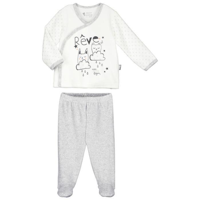 5cb517460276f Pyjama bébé 2 pièces velours Doux Rêves - Taille - 9 mois (74 cm ...