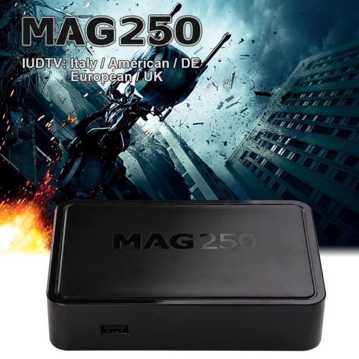 BOX MULTIMEDIA MAG 250 IPTV Set Top Box Support Chaînes de télévi