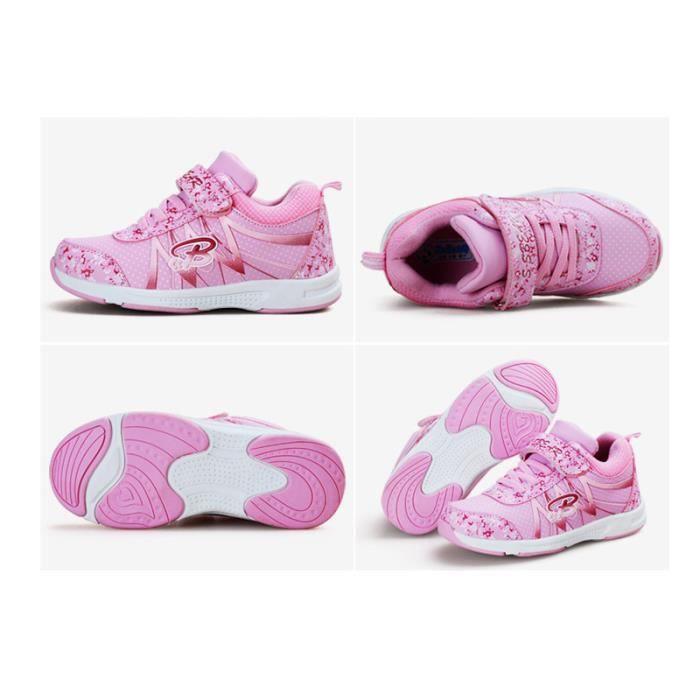 Basket Enfant Sport Respirant Ultra léger Chaussure BLKG-XZ211Rose33 wwkMwS4j