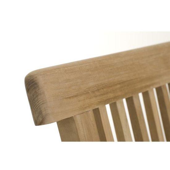 Ensemble Table de jardin et 6 chaises en teck BORNEO - Achat / Vente ...