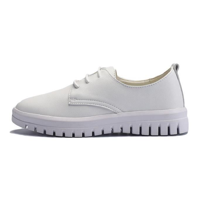 Skateshoes Femme Outdoor Sneaker Sweat de la femme Absorption dermique blanc taille36