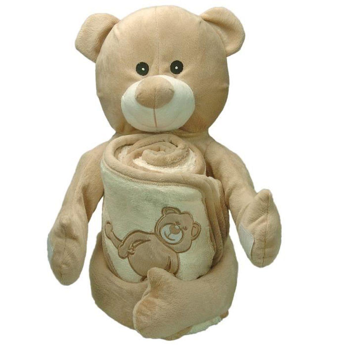 doudou cape de bain ben teddy bear sensei la maison du coton ecru taille 75 x 75 cm. Black Bedroom Furniture Sets. Home Design Ideas