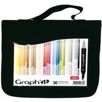 MARQUEUR Set 36 Marqueurs à alcool Graph'it - Basic colors