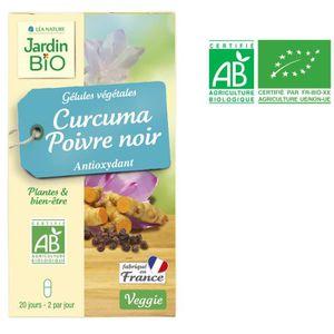 DIGESTION - TRANSIT  JARDIN BIO 40 gélules végétales curcuma et poivre