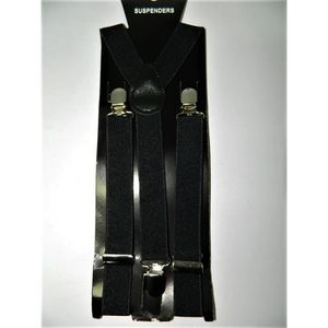 BRETELLES Bretelles homme femme Reglables noir 2,2cm bretell