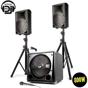 PACK SONO Système Triphonique Sono MDJ-800 800W SUB 31cm