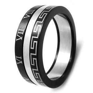 BAGUE - ANNEAU Bague anneau homme acier motif g...