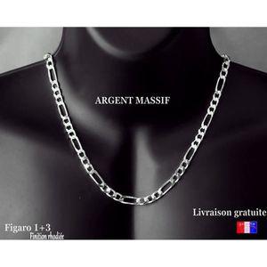 CHAINE DE COU SEULE grand collier pour homme chaîne en argent massif 9