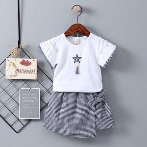c7e16fa54aba5 Ensemble de vêtements Enfant en bas âge Enfants Bébés filles Hauts à man ...