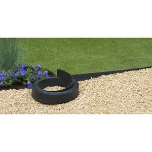 BORDURE Bordure Pro polyuréthane - noir - H9cm x 15m