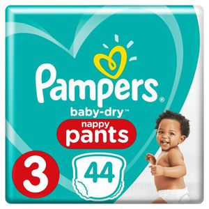 COUCHE Pampers Baby-Dry Pants Taille 3, 6-11 kg, 44 Couch