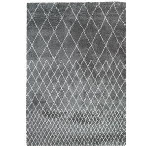 TAPIS Tapis Agadir Motifs Berbères Gris - 160 x 230 cm
