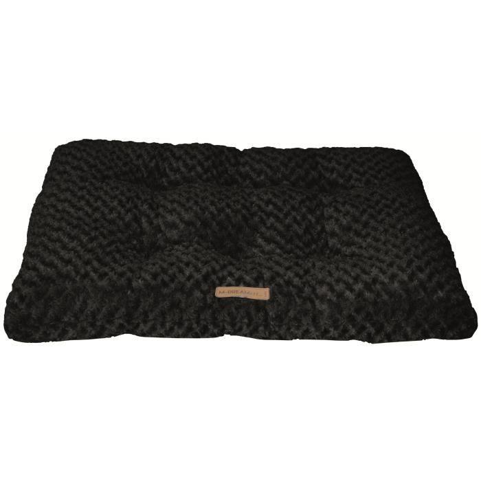 Taille L - En fourrure - Dimensions : 104x69cm - Coloris : noir - Pour chien.CORBEILLE - PANIER - COUSSIN - HAMAC - LIT