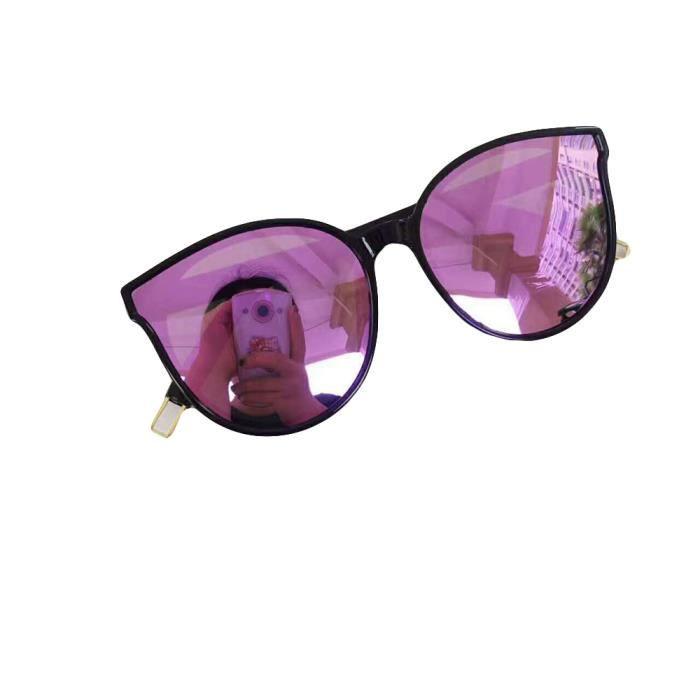 Lunettes de soleil mixte homme et femme ronde polarisées de Fashion Moderne Cadre sunglasses marque de Luxe Violet