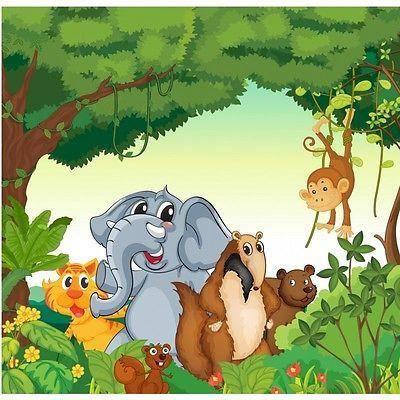 Papier Peint Enfant Géant Animaux De La Jungle 2001 Dimensions
