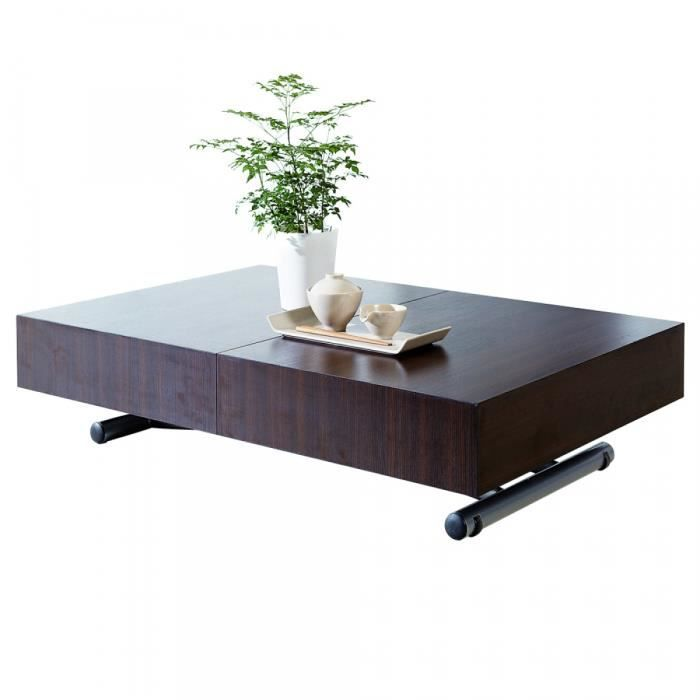 TABLE BASSE Table basse relevable extensible ELEVATOR Wengé