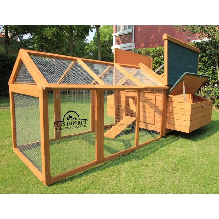 poulailler clapier en bois savoy avec enclos de 1 4 m pour 6 8 oiseaux selon la taille. Black Bedroom Furniture Sets. Home Design Ideas