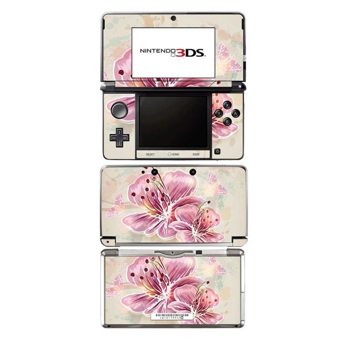 Skin Stickers Pour Nintendo 3DS (Sticker : Pink Spring Flowers)