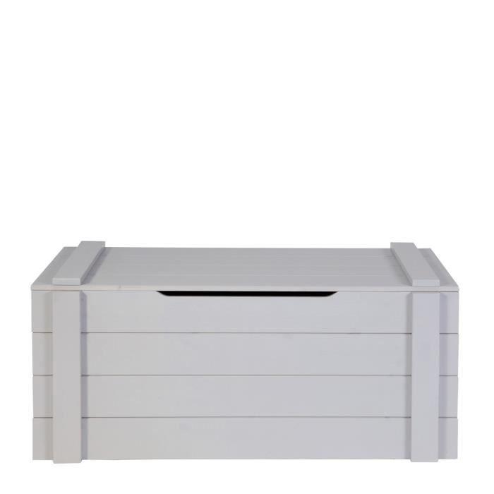 coffre à jouets bois gris ludo couleur gris béton gris - achat