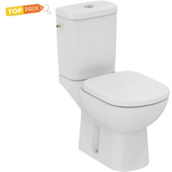 Ideal standard Pack WC KHEOPS + , Prêt à poser avec abattant, Sortie  horizontale, blanc Réf T330401 116239229d02