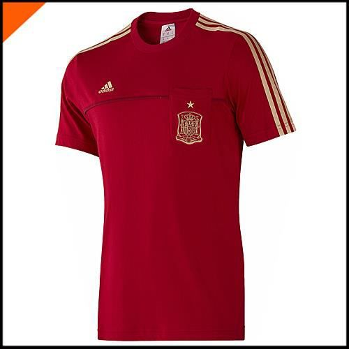 biggest discount great fit on wholesale Adidas Tee Shirt Espagne FEF Tee Rouge F85747 - Prix pas ...