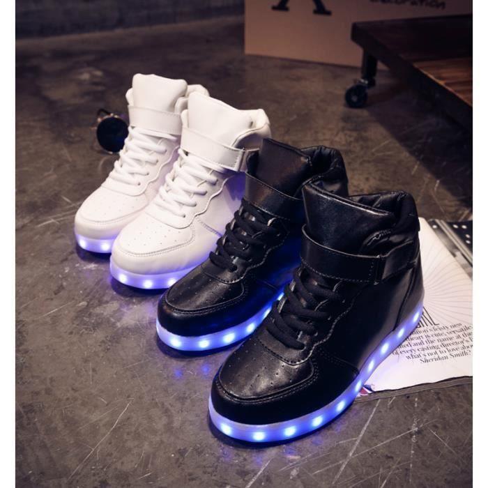 Noir mode 11 noir chaussures LED USB rechargeable 8 multicolors lumières XEM9SM0AK