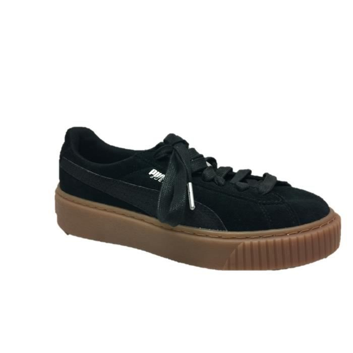 Puma Basket Suede Platform Animal Black 365109-01