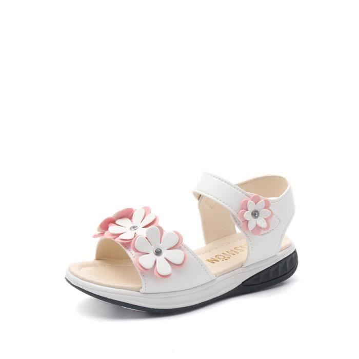 Sandales Fleur Motif Tous match Respirant doux Chaussures plates Girl 7174322