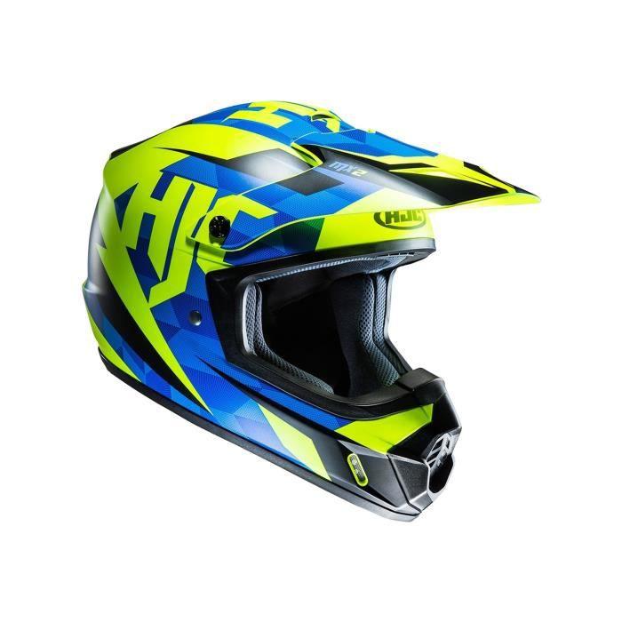 CASQUE MOTO SCOOTER Casque Motocross HJC CS-MX II Dakota Bleu-Fluoresc