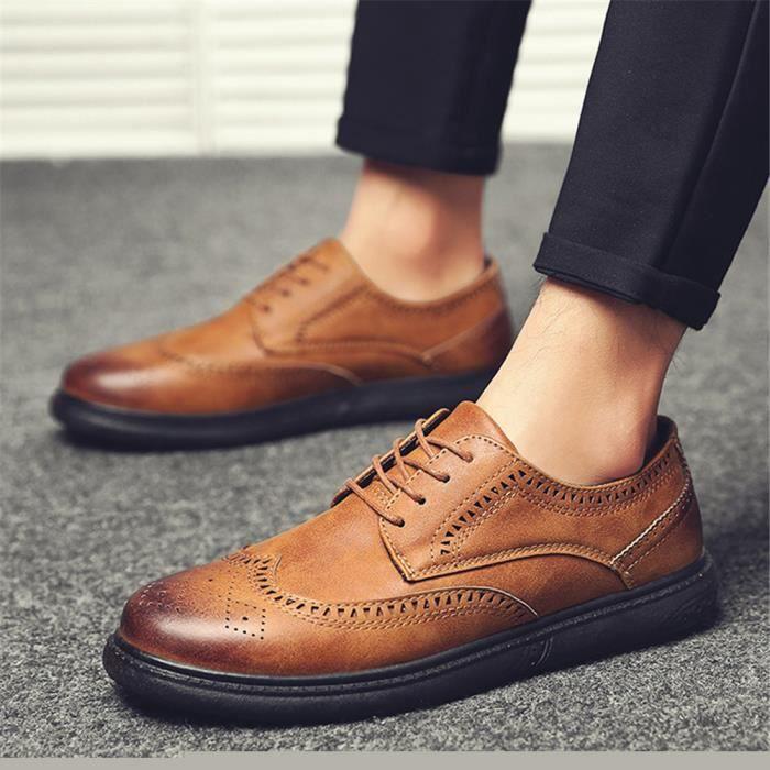Chaussure Nouvelle Hommes 40 Meilleure Rétro Respirant 44 Derbies Confortable Classique Arrivee Cuir Qualité xaqwdggF5Y