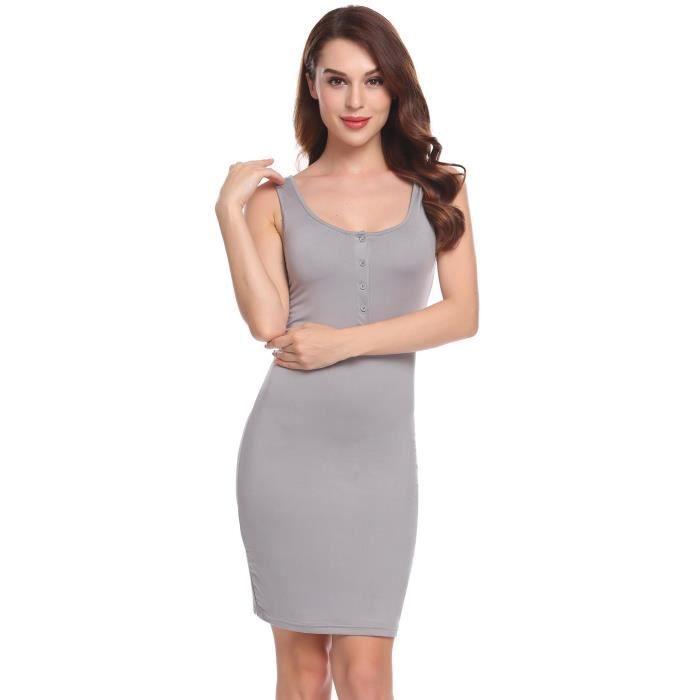 Femmes robe sans manches slim