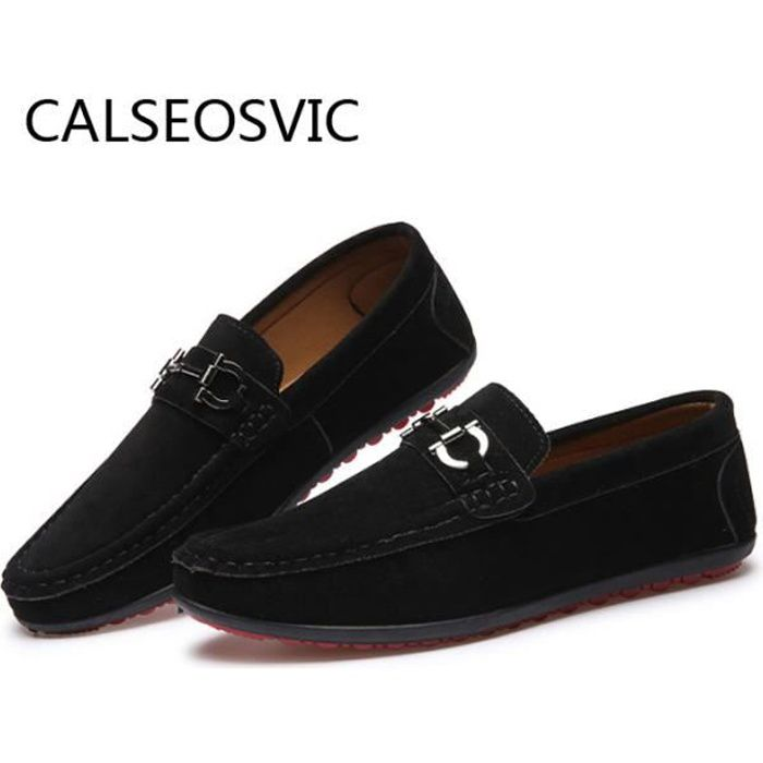 Calseosvic® 2018 Hommes Chaussures Mocassins Noir